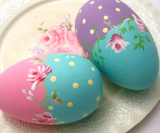 Hand Painted Wooden Easter Eggs