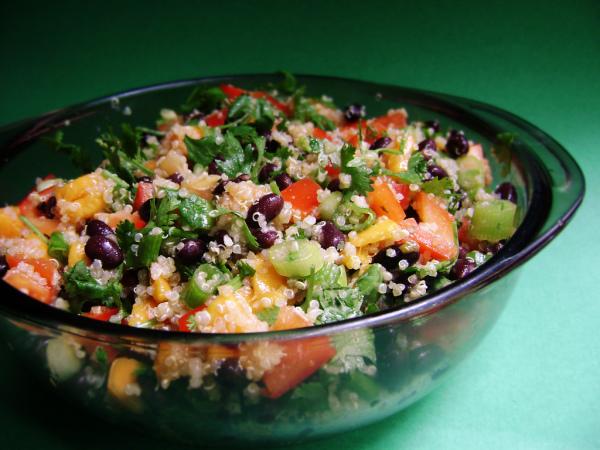 Quinoa, Black Bean, and Mango Salad